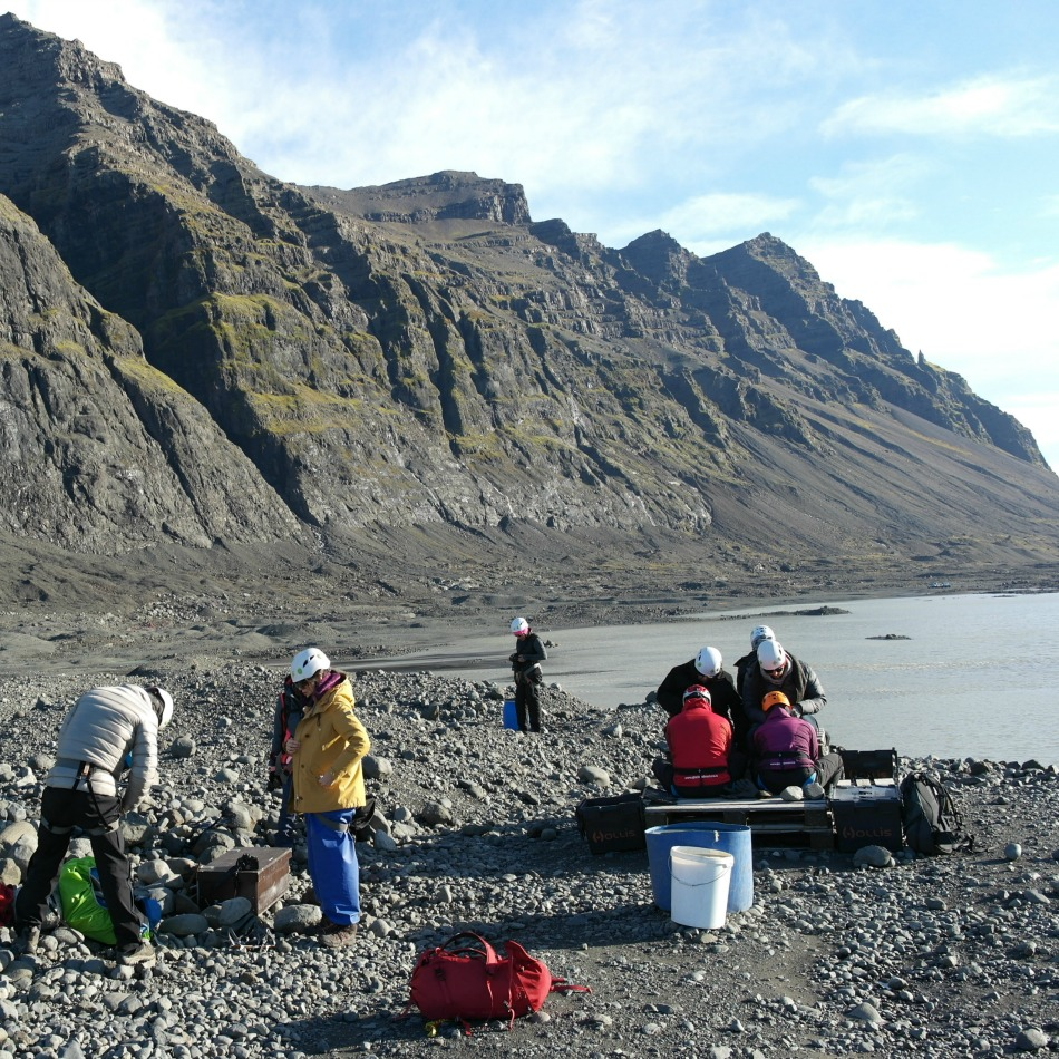 Suiting up at the base of Vatnajökull